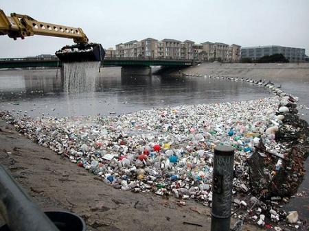 Plastic in the L.A. River